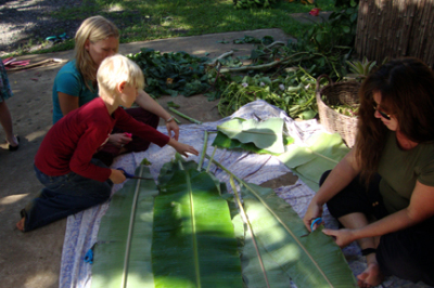 Banana Leaf Plate Making